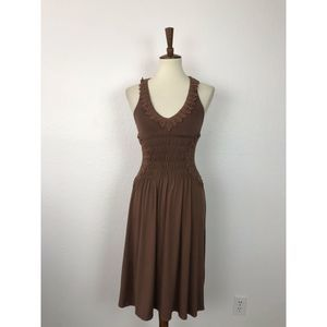 BCBG Max Azria Halter Smocked Knit Dress